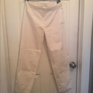 LauRie stretch White trousers UK 42 US 12 skinny